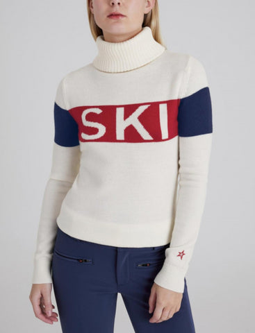Perfect Moment SKI II Sweater Aspen in Snow White