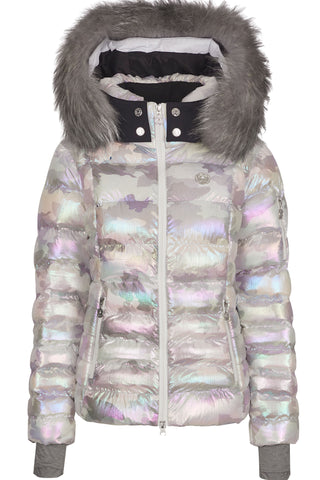 Sportalm Mylis Camo Ski Jacket with Fur Trim