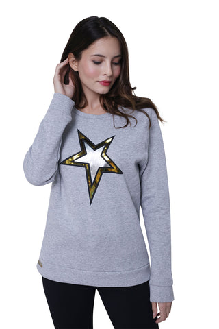 High Society Nova Sweater in Light Grey