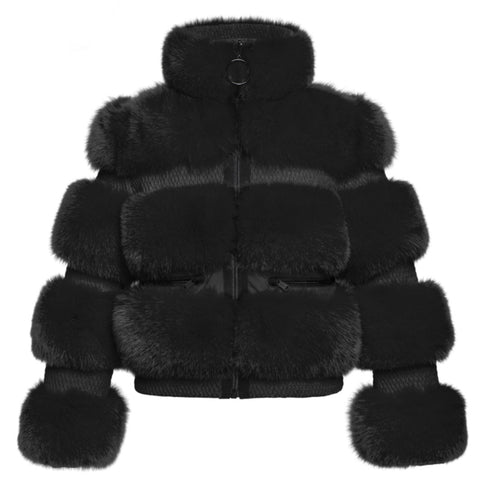 Goldbergh Paradiso Faux Fur Black Ski Jacket