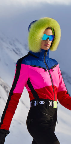Goldbergh Pearl 150 One Piece Ski Suit in Rainbow