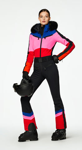 Goldbergh Pearl One Piece Ski Suit in Rainbow
