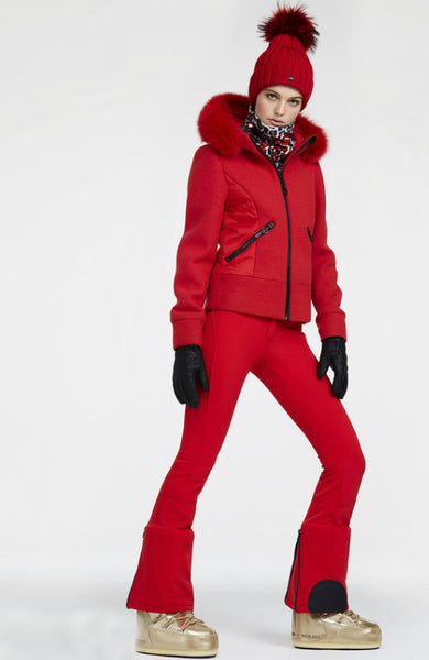 Goldbergh Pippa Lava Red Straight Stretch Ski Pant