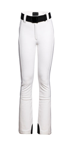 Goldbergh Pippa White Longer Length Straight Stretch Ski Pant