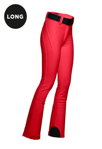 Goldbergh Pippa Ruby Red Straight Stretch Ski Pant Longer Length