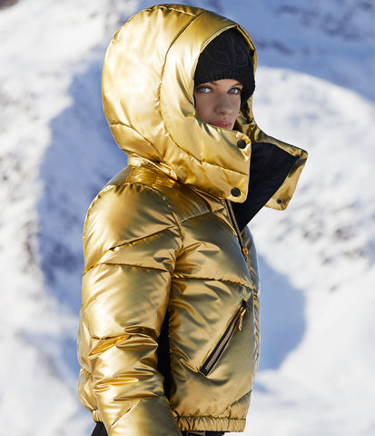 Goldbergh Balloon Gold Down Ski Jacket