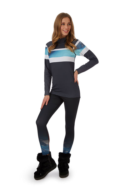 H. Holderness Bellecôte Thermal Top in Blue