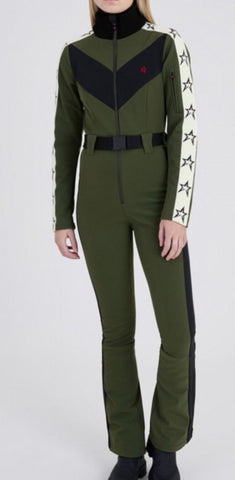 Perfect Moment Ryder Dark Green One Piece Ski Suit