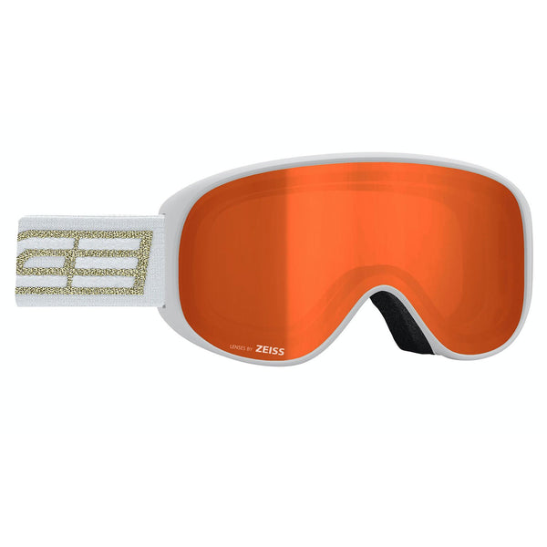 Salice White and Gold Sonar Ski Goggles