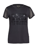 Goldbergh Birsa Black T Shirt with Mesh Details