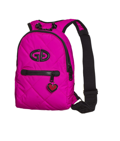 Goldbergh Mini Wow Pink Backpack with Heart Pendant