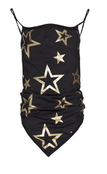 Goldbergh Marf Black with White Stars Face Mask