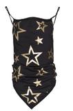 Goldbergh Marf Black with Gold Stars Face Mask