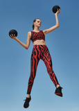 Goldbergh Red and Black Tatiana Legging
