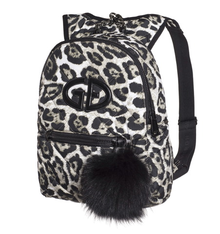Goldbergh Handy Leopard Bag with Fur Pom Pom