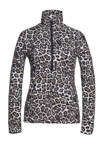 Goldbergh Lilja Ski Base Layer/Pully in Leopard Print