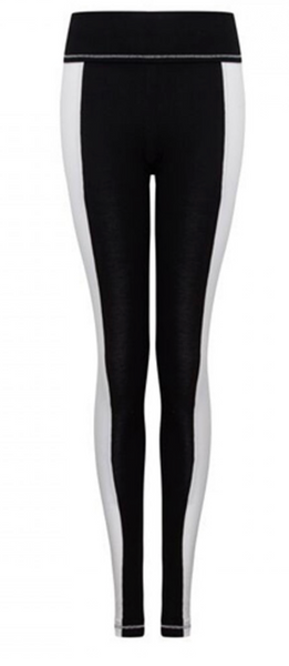 S'No Queen Silk Black White Stripetease legging
