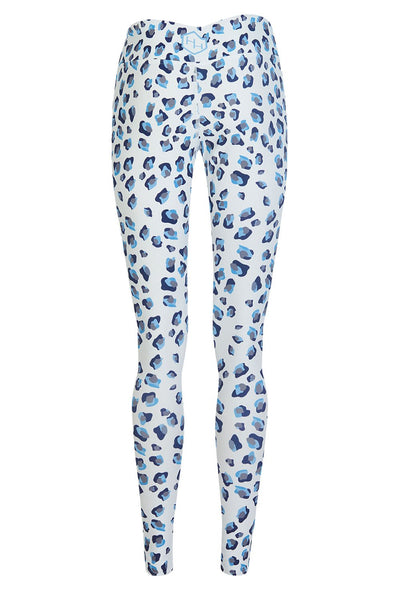 H. Holderness Snow Leopard Leggings in White and Black