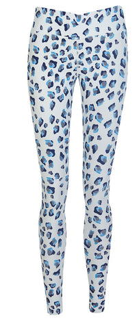 Henrietta Holderness Snow Leopard Leggings in White and Black