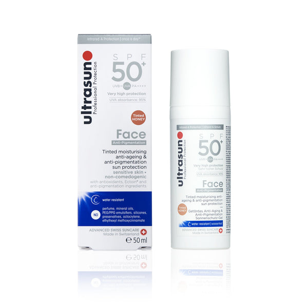 Ultrasun Tinted Anti-Pigmentation Face Sunscreen with spf50+ in 50ml