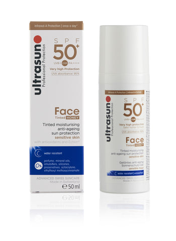Ultrasun Tinted Face Honey 50 Sunscreen in 50ml