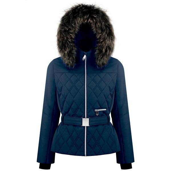 Poivre Blanc W19-1003 WO/B Gothic Blue with Real Fur