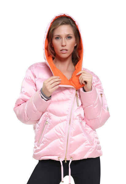Bogner Becca D Cocoon Ski Jacket in Pink with Hood from winternational.co.uk