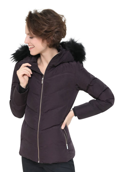 Fusalp Davai Wine Ski Jacket With Fur Trimmed Hood from Winternational.co.uk