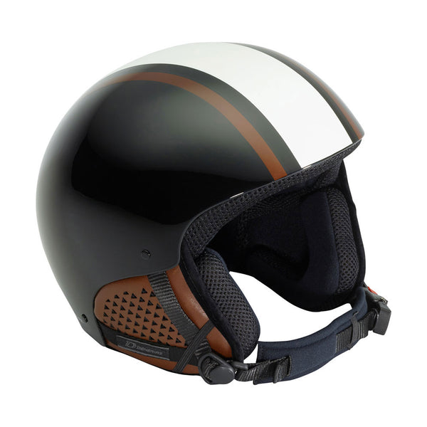Deneriaz Torino GT Black and Copper and White Ski Helmet