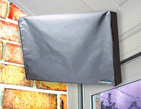 Axess 97081147M 19-inch LED AC/DC TV OUTDOOR TV COVER - GRAY