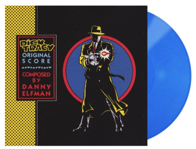 Danny Elfman - Dick Tracy (Score) [LP] (Transparent Blue Colored Vinyl, limited to 3000)