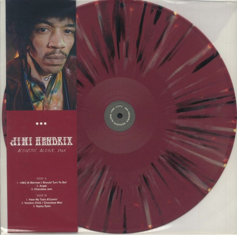 Jimi Hendrix - Acoustic Alone 1968 [LP] Limited Splatter Colored Vinyl