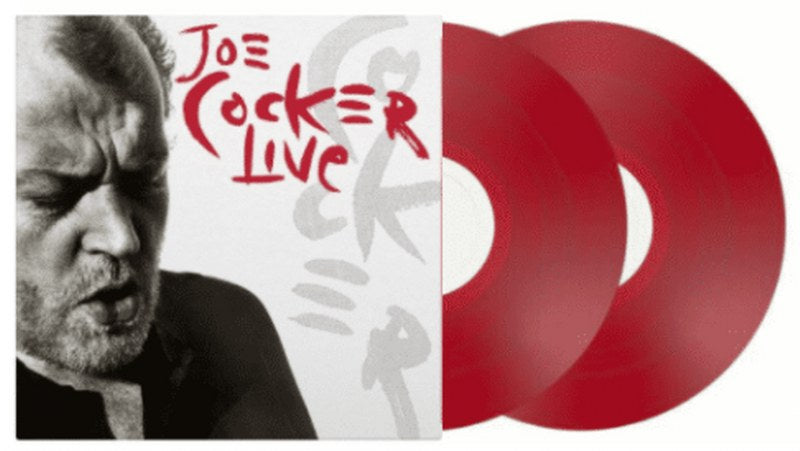 Joe Cocker - Live [2LP] (LIMITED TRANSPARENT RED COLORED 180 Gram Audiophile Vinyl, live album with 2 studio tracks, gatefold, numbered to 2500, import)