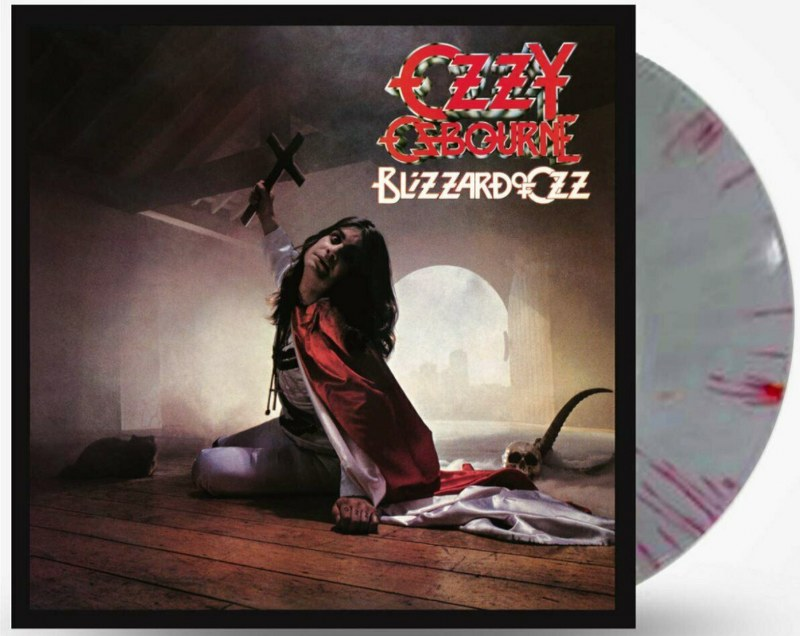 Ozzy Osbourne - Blizzard Of Oz [LP] Limited Edition Silver & Red Swirl Colored Vinyl, Import