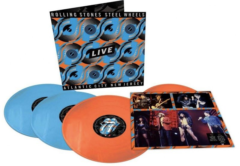 Rolling Stones, The - Steel Wheels Live [4LP] (Live From Atlantic City, NJ, 1989 / North American Version, Tangerine/Sky Blue Colored 180 Gram Vinyl, limited)