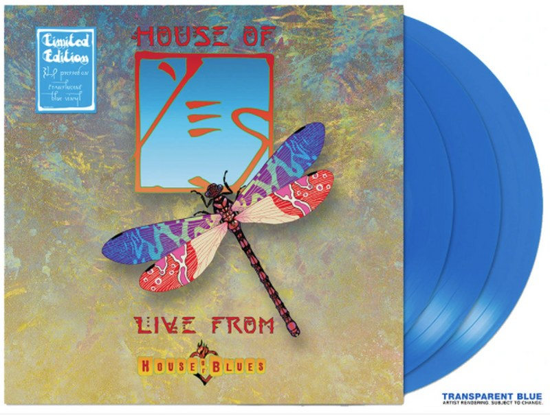 Yes - House Of Yes: Live From House Of Blues [3LP] (Translucent Blue Vinyl, limited)