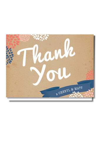 Casual Card Thank You Card