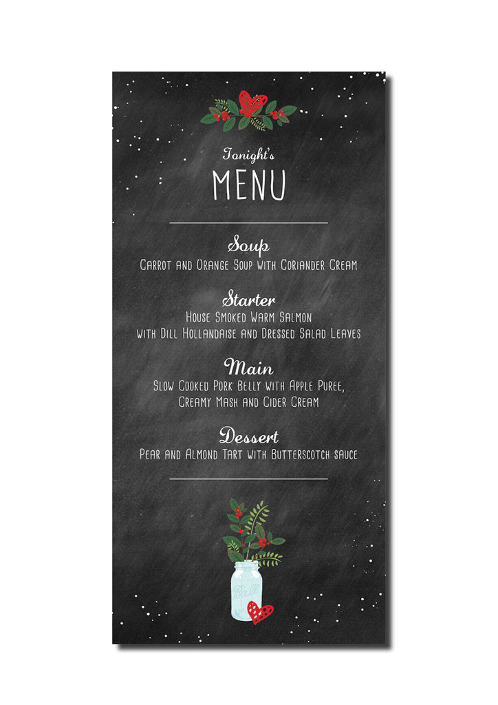 Christmas Feel Menu