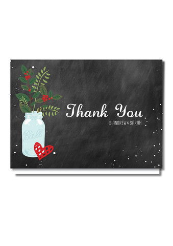Christmas Feel Thank You Card
