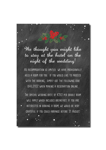 Christmas Feel Guest Information Card