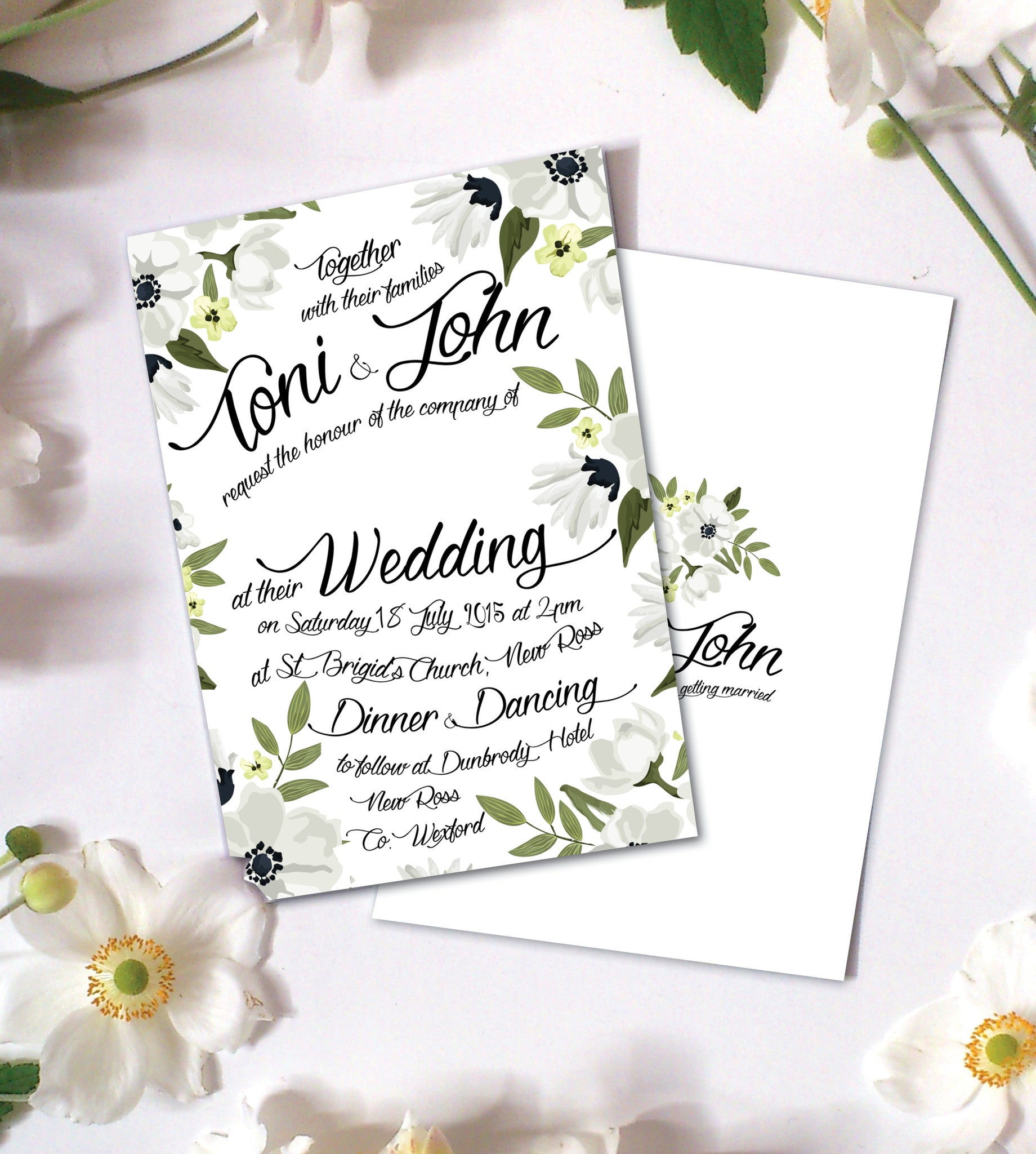 Design Our Day Floral Watercolour Wedding Invitation – Design Our ...