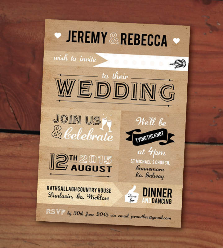 Design Our Day Patch work Paper Wedding Invitation – Design Our ...