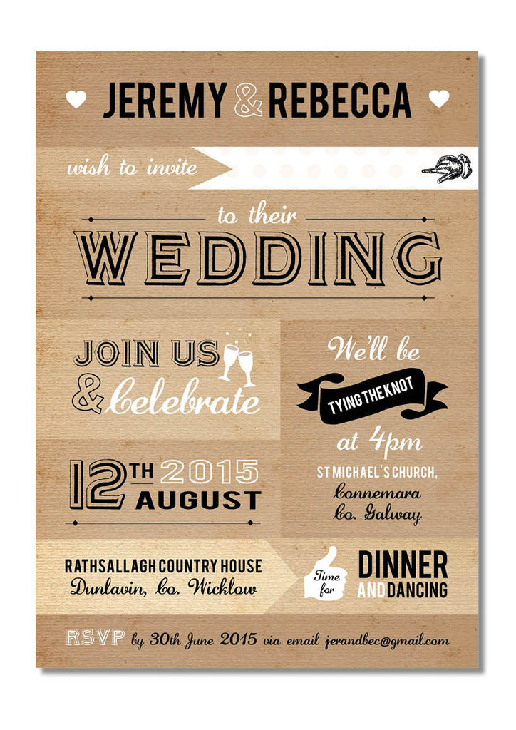 Design Our Day Patch work Paper Wedding Invitation – Design Our Day ...