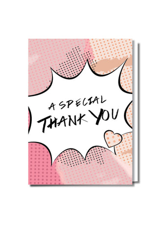Pop Art Thank You Card