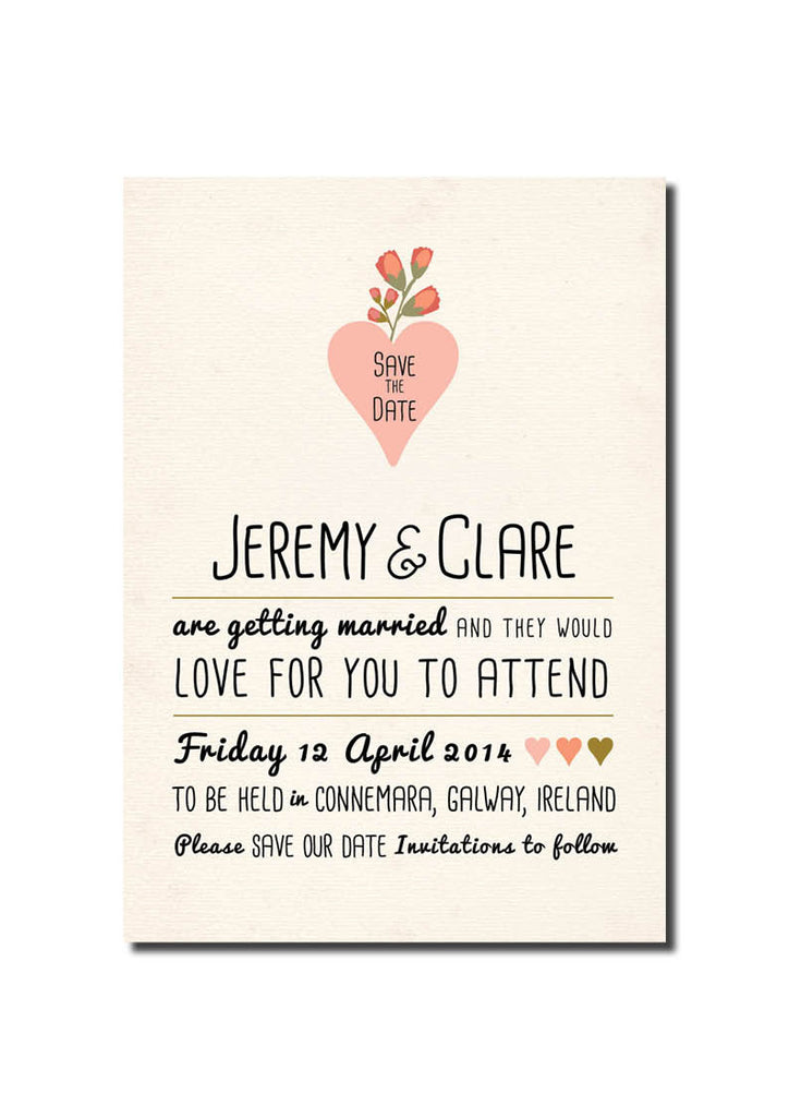 Rustic Pink Save The Date
