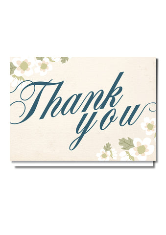 Scripty Style Thank You Card