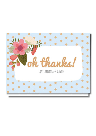 Do The Polka Thank You Card