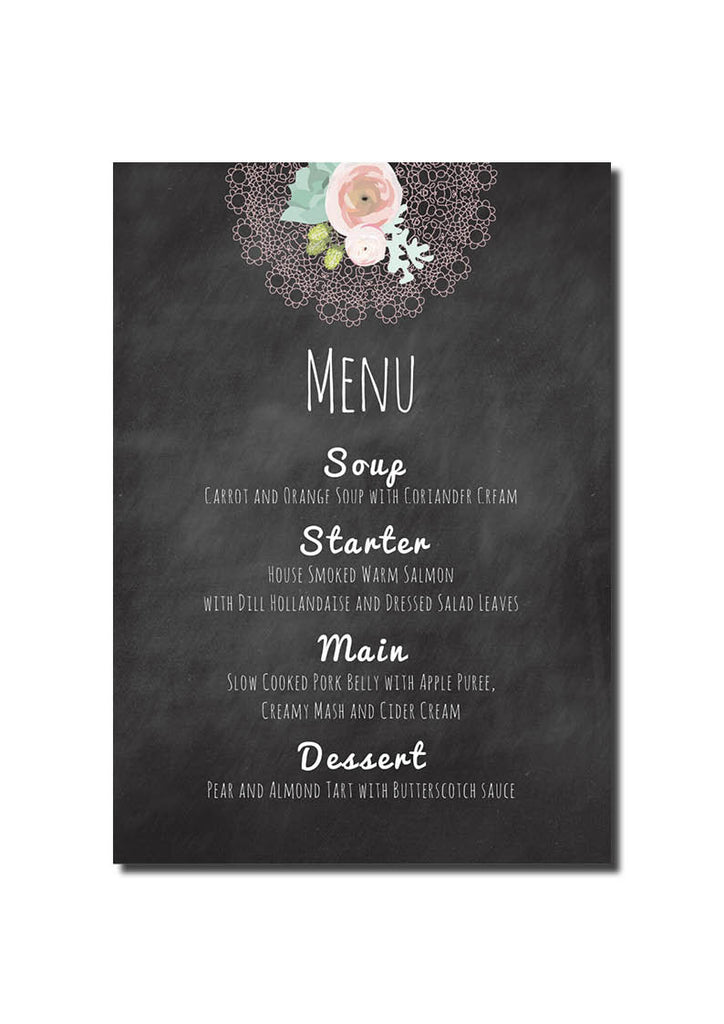 Doily Delight Menu