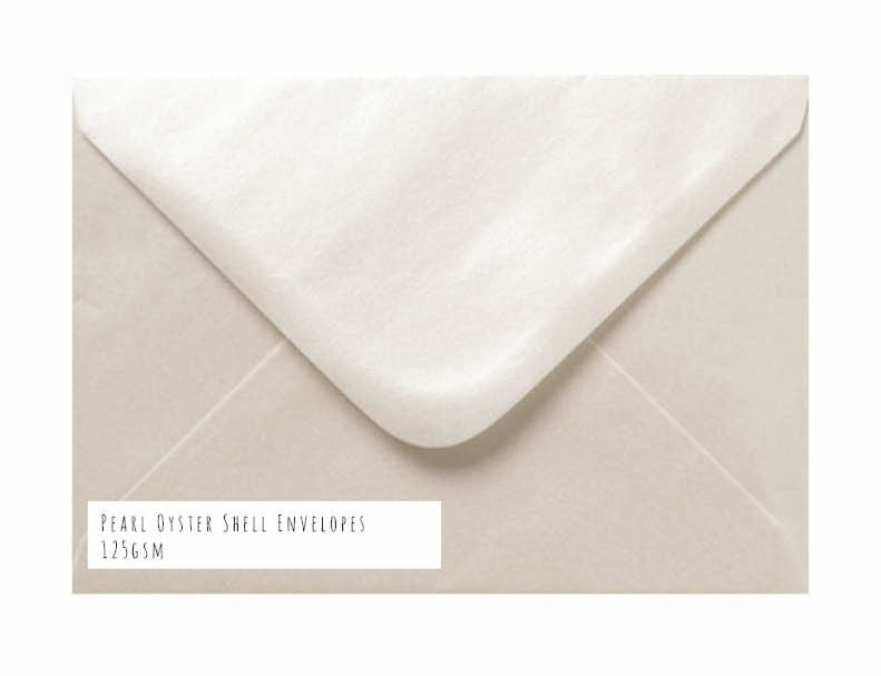 Pearl Oyster Shell Envelopes