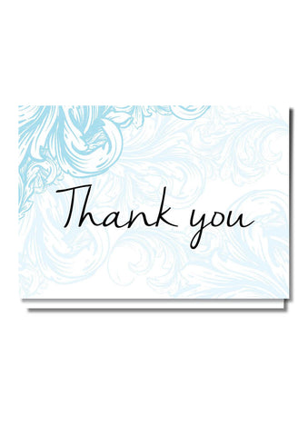 Filigree Thank You Card
